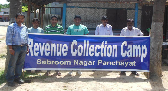 Revenue Collection Camp, Sabroom Nagar Panchayat